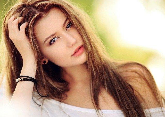 femme avec une magnifique photo de profil